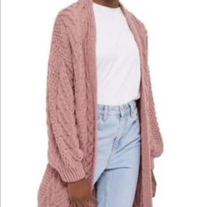 Oversized pink TopShop women's sweater US size 8